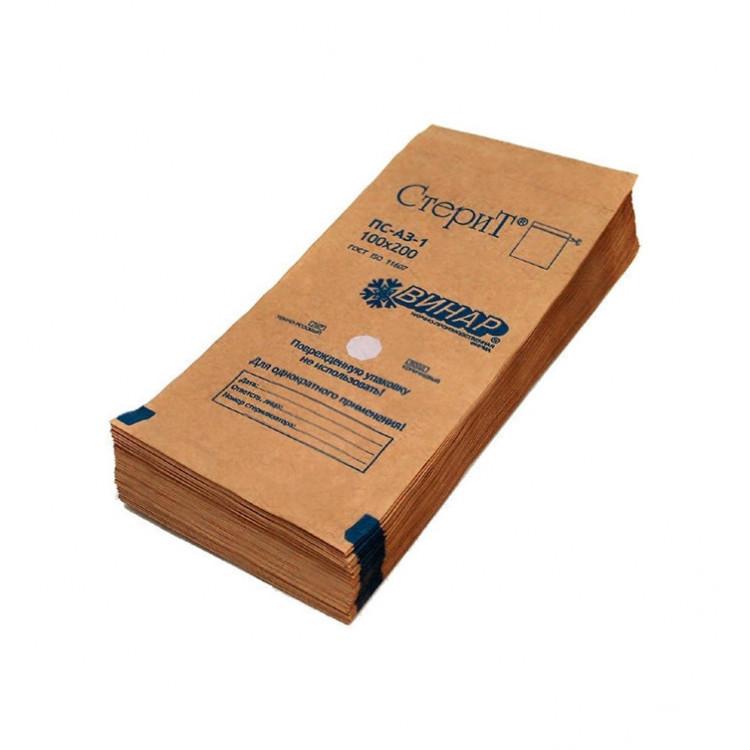 """Крафт-пакеты для стерилизации """"СтериТ"""" 100*200 мм с индикатором"""