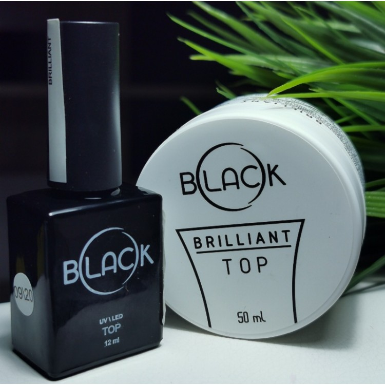 Топ BRILLIANT глянцевый без липкого слоя BLACK
