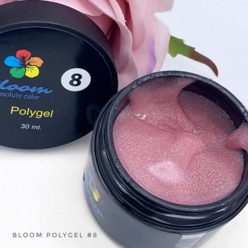 Полигель искрящийся розовый №8 Bloom, 30 мл