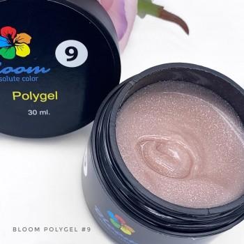 Полигель искрящийся светло-розовый №9 Bloom, 30