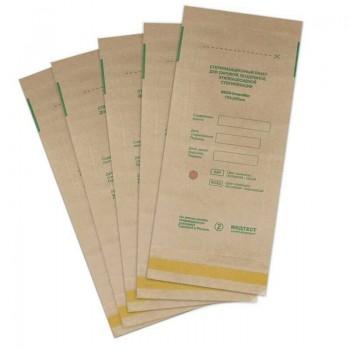 Пакет для паровой, воздушной стерилизации 100*200 с индикатором Крафт